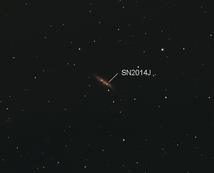 Supernova v M82